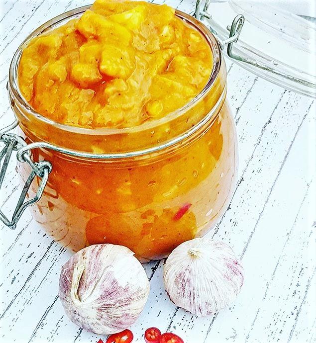 Sukkerfri hjemmelaget mango chutney