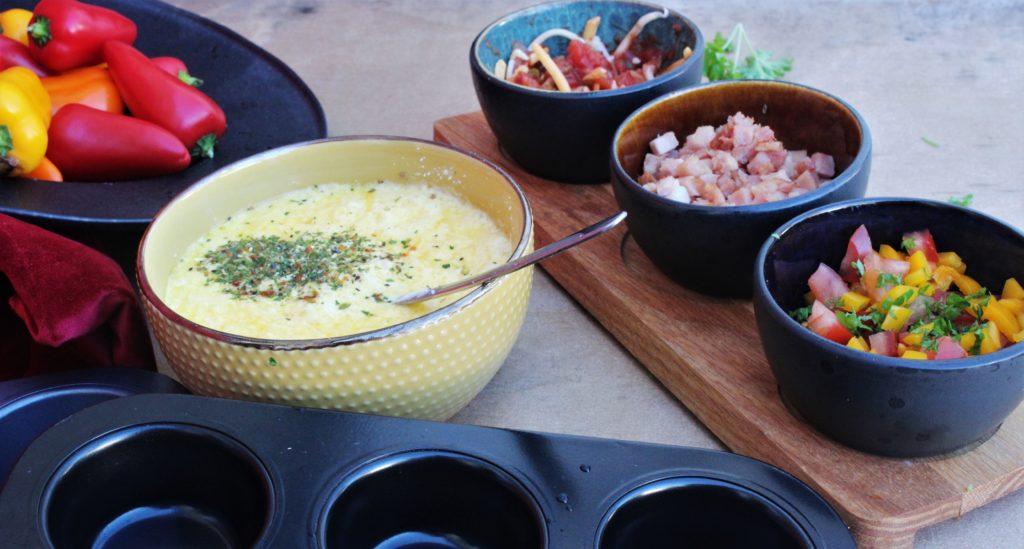 Omelett muffins- 2 varianter