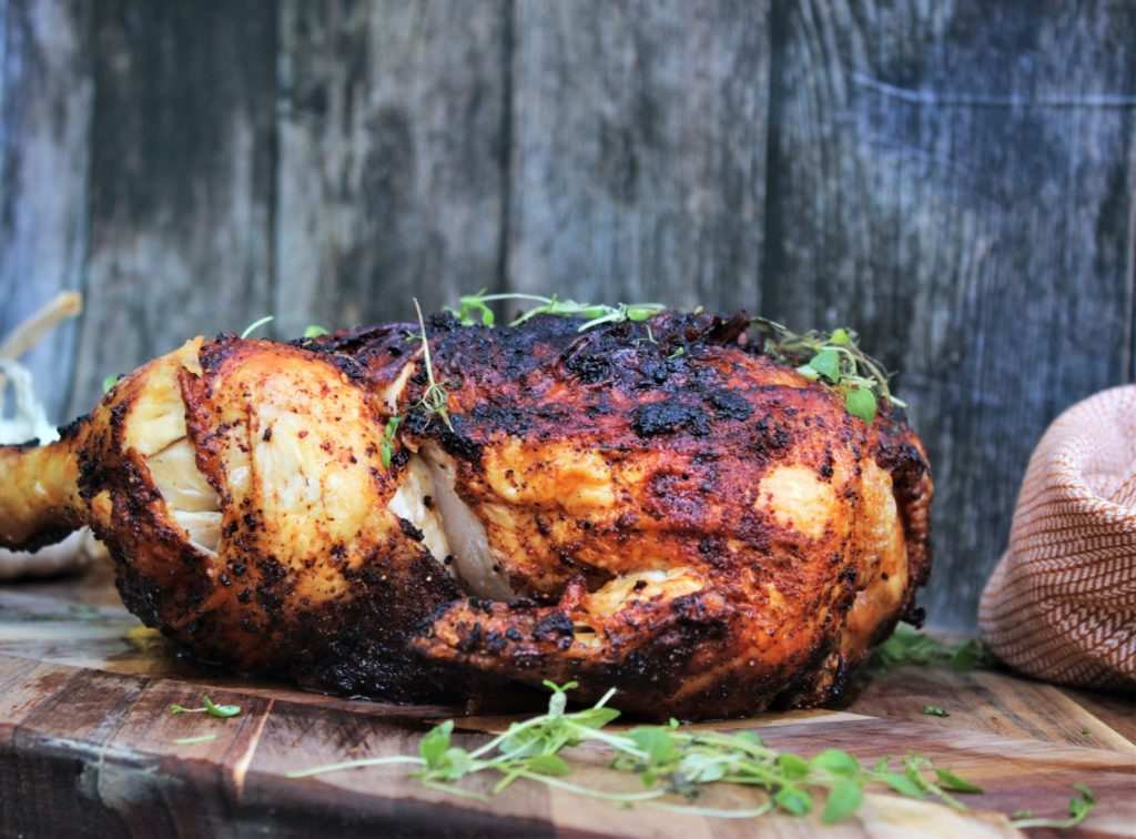 Helgrillet kylling i Airfryer