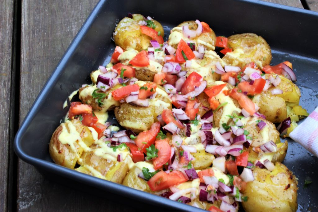 Knuste poteter i airfryer