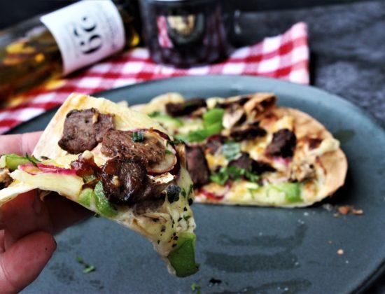 Tortilla pizza med reinsdyrskav